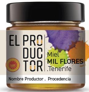 envase Miel de Tenerife El Productor