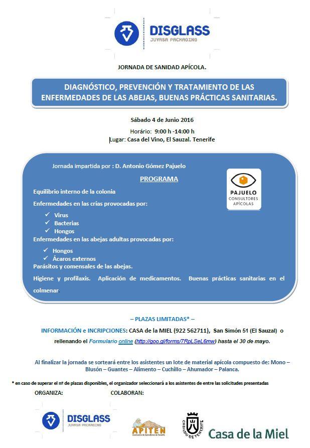 jornadas sanidad apícola TENERIFE 4-06-16